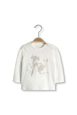 Esprit / Printed long-sleeved top in organic cotton