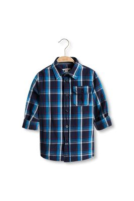 Esprit / Basic check shirt, 100% cotton