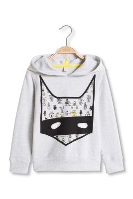 Esprit / Baumwoll-Mix Sweat-Hoodie mit Hero-Print