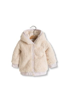 Esprit / Cosy teddy jacket with jersey lining