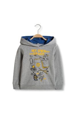 Esprit / Printed cotton blend sweatshirt hoodie