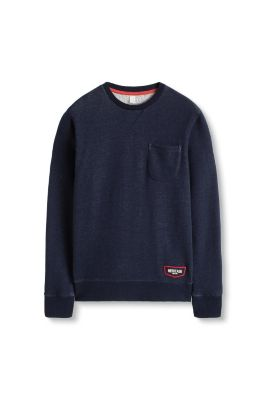 Esprit / Baumwoll Sweatshirt im Denim-Look