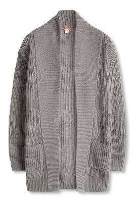 Esprit / Long cardigan in a soft, ribbed knit