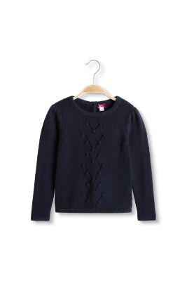 Esprit / Blended cotton jumper with glittering details