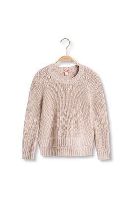 Esprit / Ribbed jumper in soft blended cotton