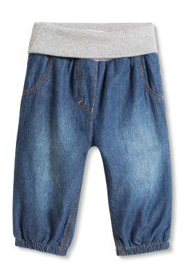 Esprit / Bløde jeans, jerseyfor, riblinning