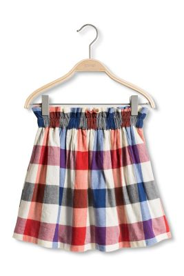 Esprit / Check flannel skirt, 100% cotton