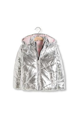 Esprit / Metallic thermal jacket with a fleece lining