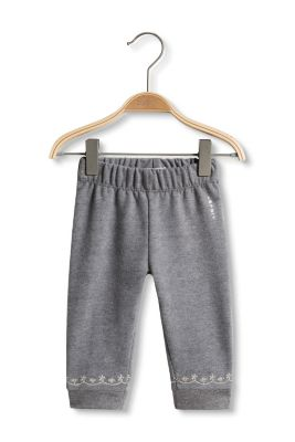 Esprit / Baumwoll-Mix Sweat-Hose mit Stickereien