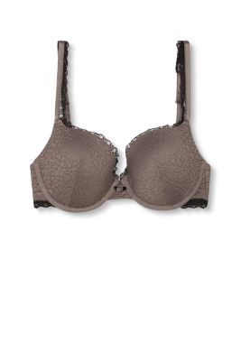 Collection: NALA - padded underwire bra in animal-look lace