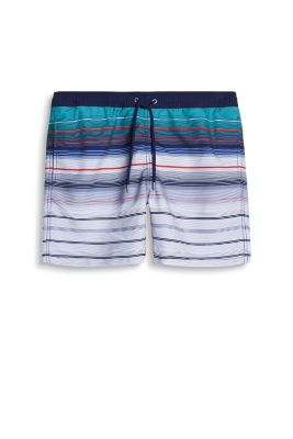 Collection: LARK BAY - striped swim shorts with slit pockets and an elasticated waistband