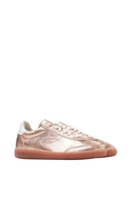Copper love! Trendy trainers in crushed-effect imitation leather