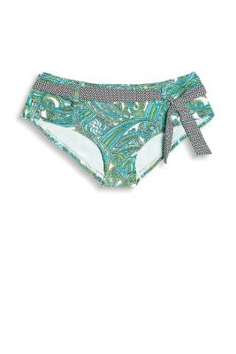 FOUNTAIN collection - hipster shorts with a paisley print and tie-around belt with a minimalist pattern