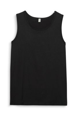 Basic tank top in pure cotton
