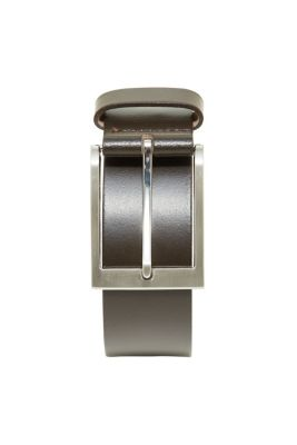for men, with a brushed metal buckle
