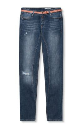EDC / Distressed stretch jeans with belt