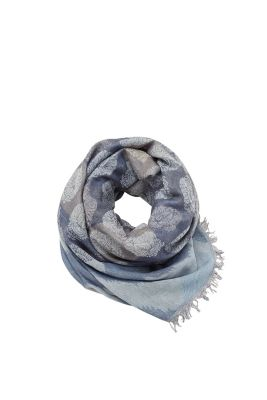 Esprit / Scarf with jacquard pattern, cotton blend