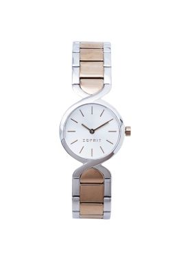 Esprit / Rose gold/silver tone watch