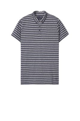 Esprit / Striped jersey polo shirt, cotton blend