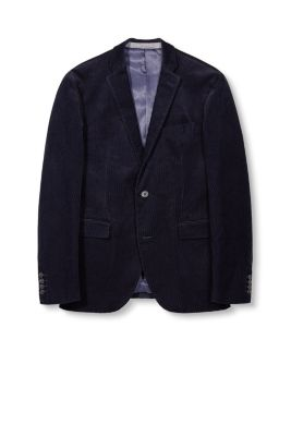 Esprit / Textured velvet blazer, cotton blend