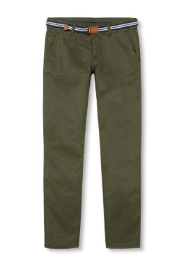 EDC / Stretch cotton chinos with belt