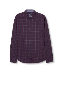 Esprit - Geruit overhemd van flanel, 100% katoen kopen in de online ...: www.esprit.nl/geruit-overhemd-van-flanel-100-katoen-096EO2F006