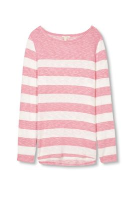 Esprit / Silky long sleeve top with melange stripes