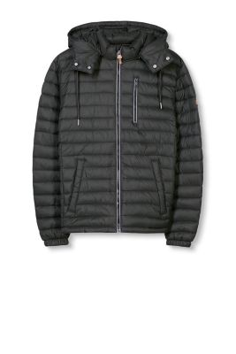 EDC / Quilted jacket with a zip-off hood