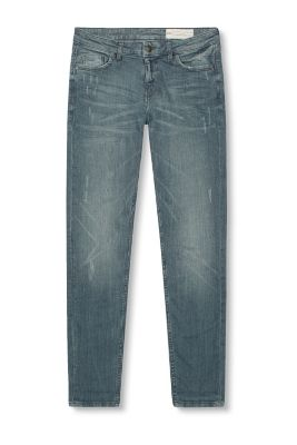 Esprit / Vintage-finish skinny stretch jeans