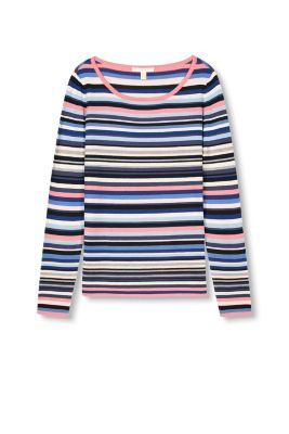 Esprit / Fine knit jumper with multicoloured stripes