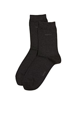 Esprit - double pack socks with a soft hem