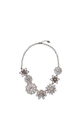 Esprit / Statement necklace with gemstone flowers