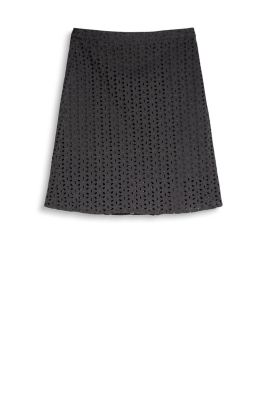 Esprit / Broderie anglaise skirt, 100% cotton