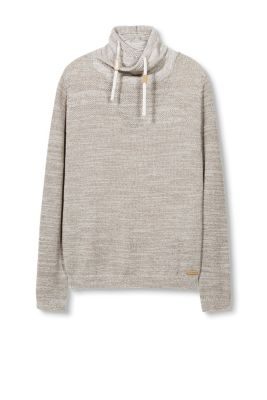 EDC / Cotton blend polo neck jumper