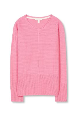Esprit / Textured jumper in 100% cotton