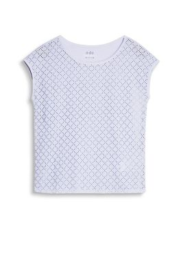 EDC / Jersey and broderie anglaise top