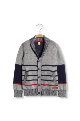 Esprit / Striped cardigan in knit cotton
