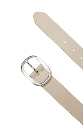 Esprit / Smooth leather belt + satined buckle