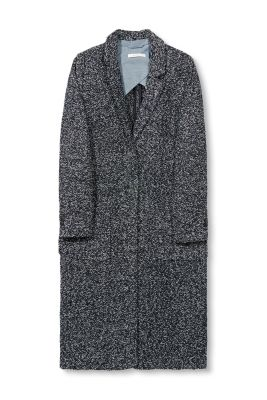 Esprit / Melange bouclé coat in blended wool