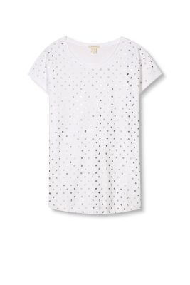 Esprit / Soft top with metallic polka dots