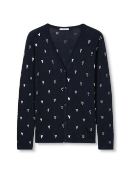 EDC / Fine knit cardigan with a heart print