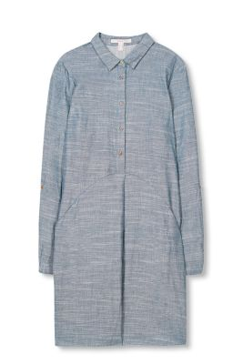 Esprit / Double-faced dress in 100% cotton