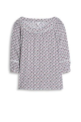 Esprit / Flowing blouse with an innovative print