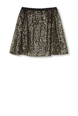 EDC / Jersey/tulle skirt with sequins