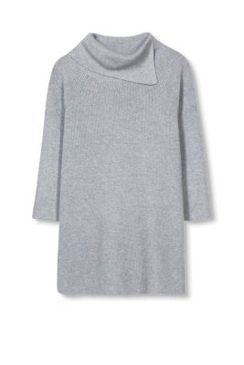 Esprit / Blended wool jumper with new polo neck