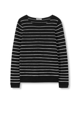 EDC / Striped jumper with a ribbed texture