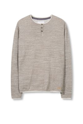 EDC / Cotton blend marl Henley jumper