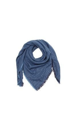 Esprit / Soft two-tone woven scarf, twill texture