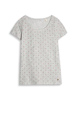 Esprit / Stretch cotton top with a minimal print