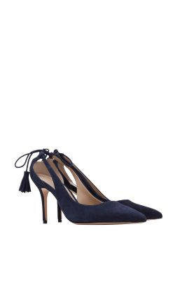 Esprit / Cut-out court shoe in 100% suede